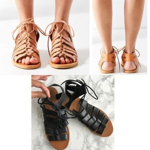 Urban Outfitters black Gladiator sandals 7